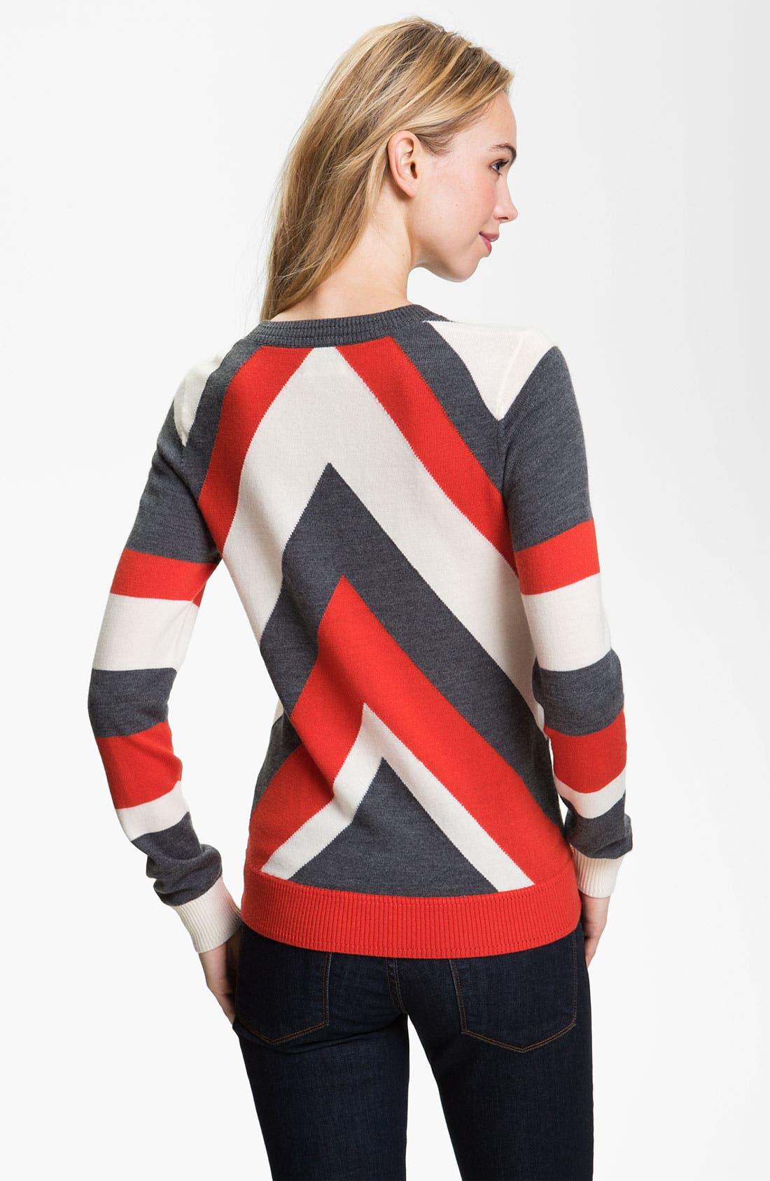Alternate Image 2  - Milly 'Intarsia' Stripe Sweater