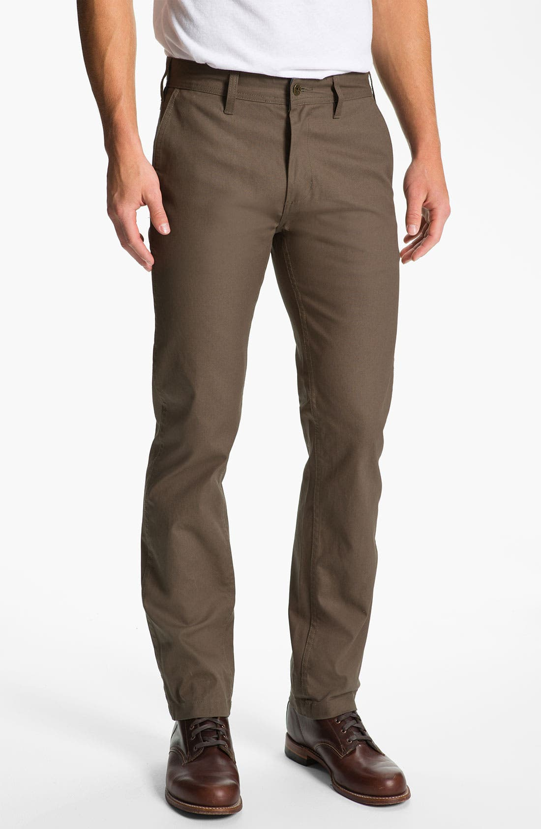 Alternate Image 1 Selected - Obey 'Trademark' Wax Coated Chinos