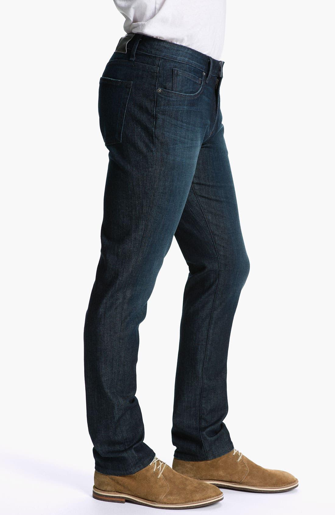Alternate Image 3  - PAIGE 'Normandie' Slim Straight Leg Jeans (Warrior)