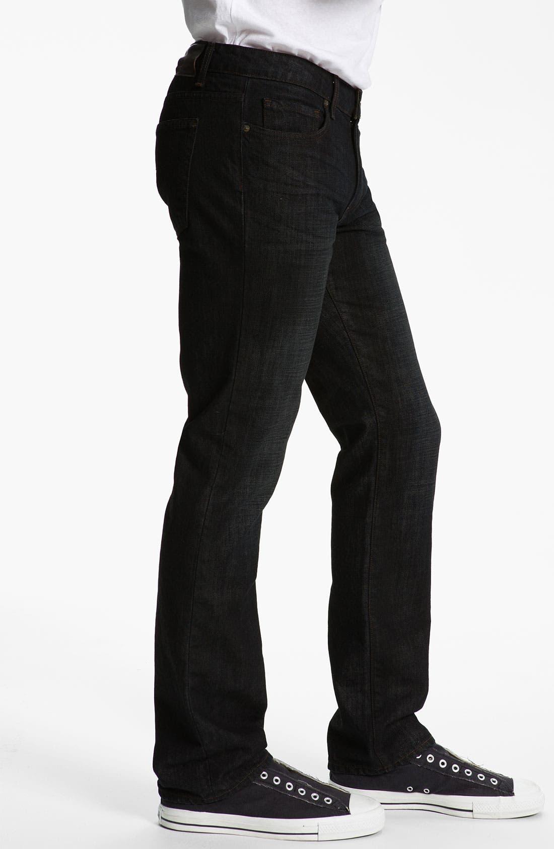 Alternate Image 3  - PAIGE 'Normandie' Straight Leg Jeans (Alpha)