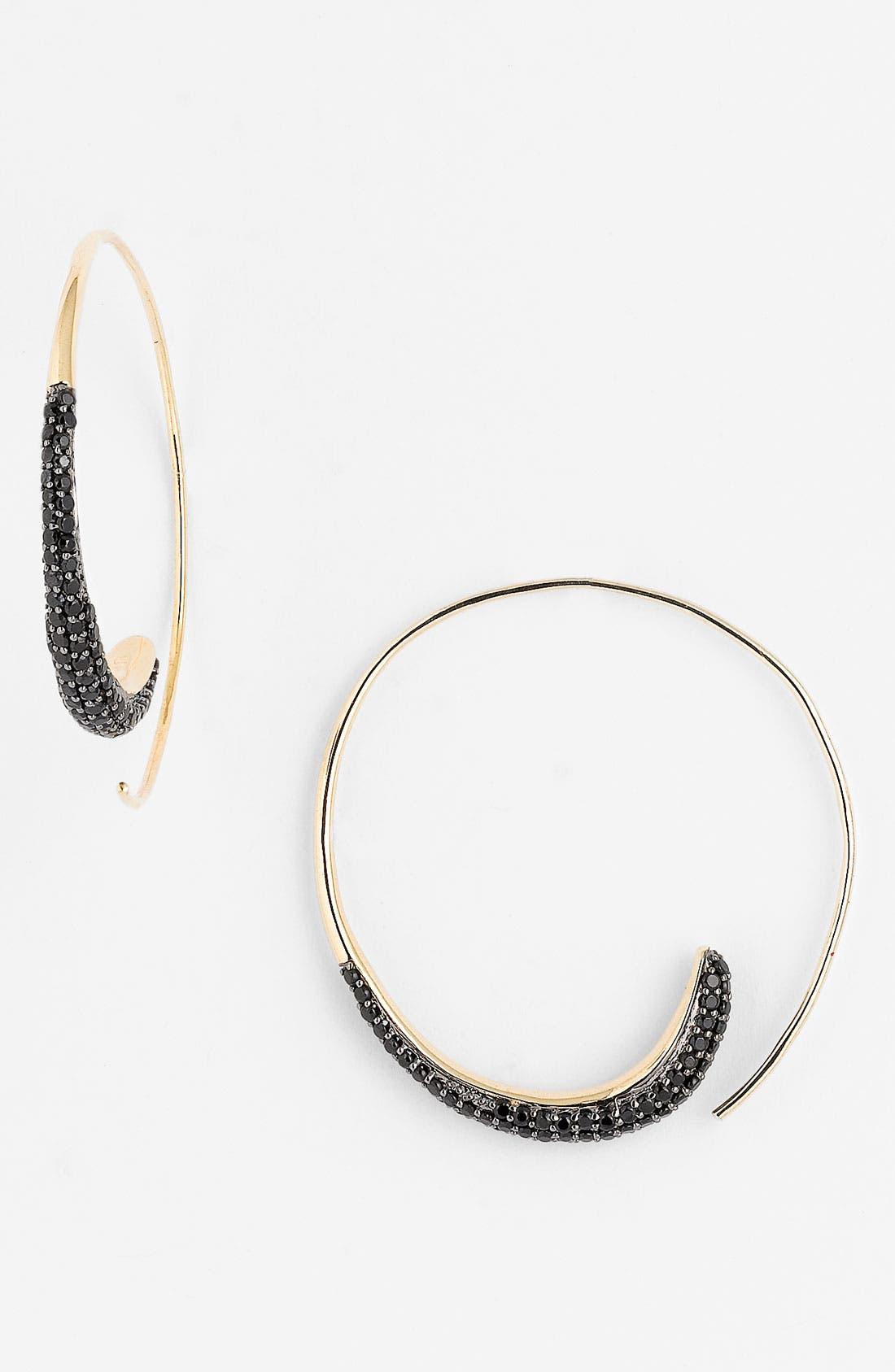 Alternate Image 1 Selected - Tom Binns 'Bejewelled' Swirl Hoop Earrings