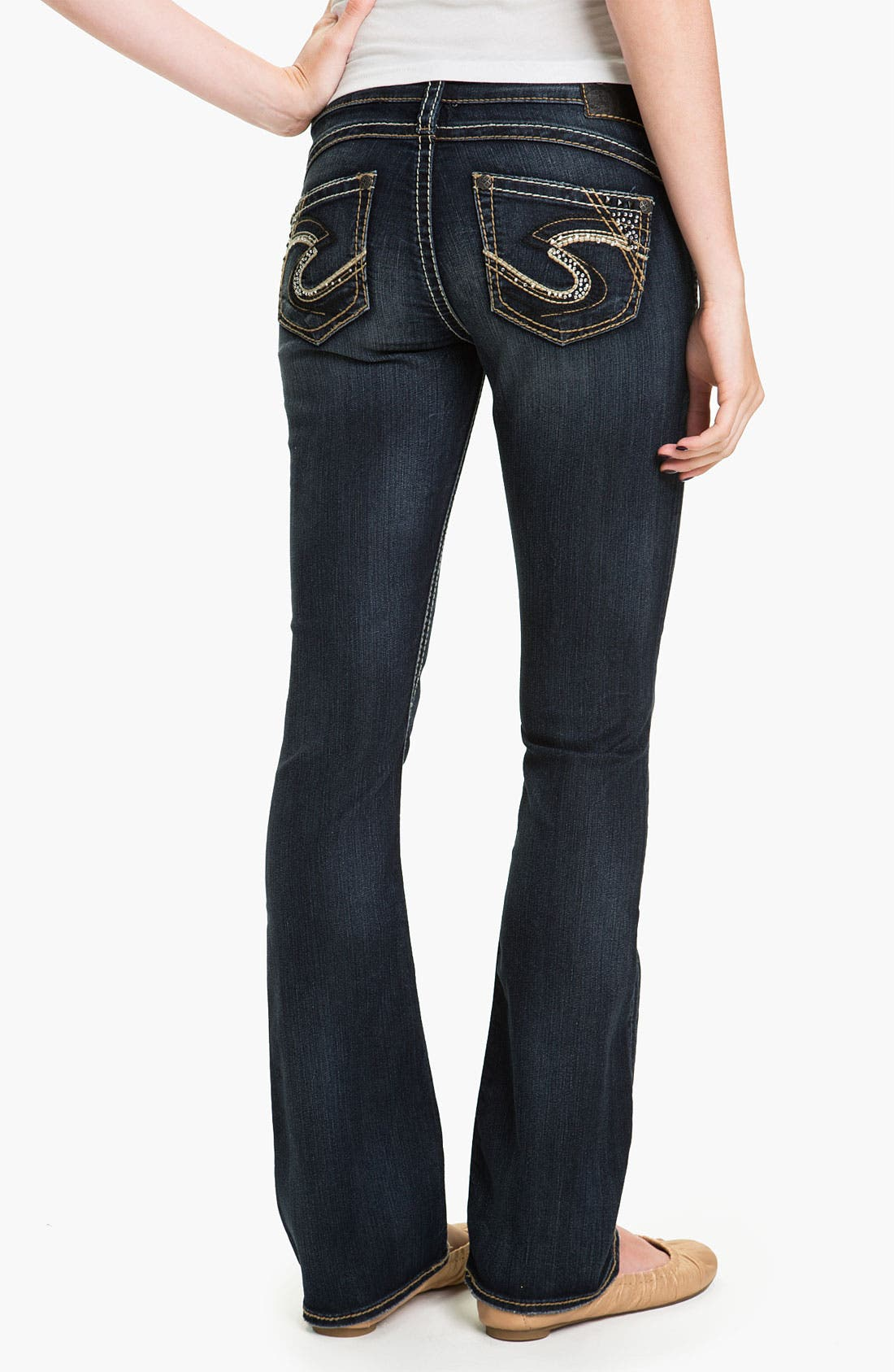 Alternate Image 1 Selected - Silver Jeans Co. 'Tuesday' Bootcut Jeans (Juniors)