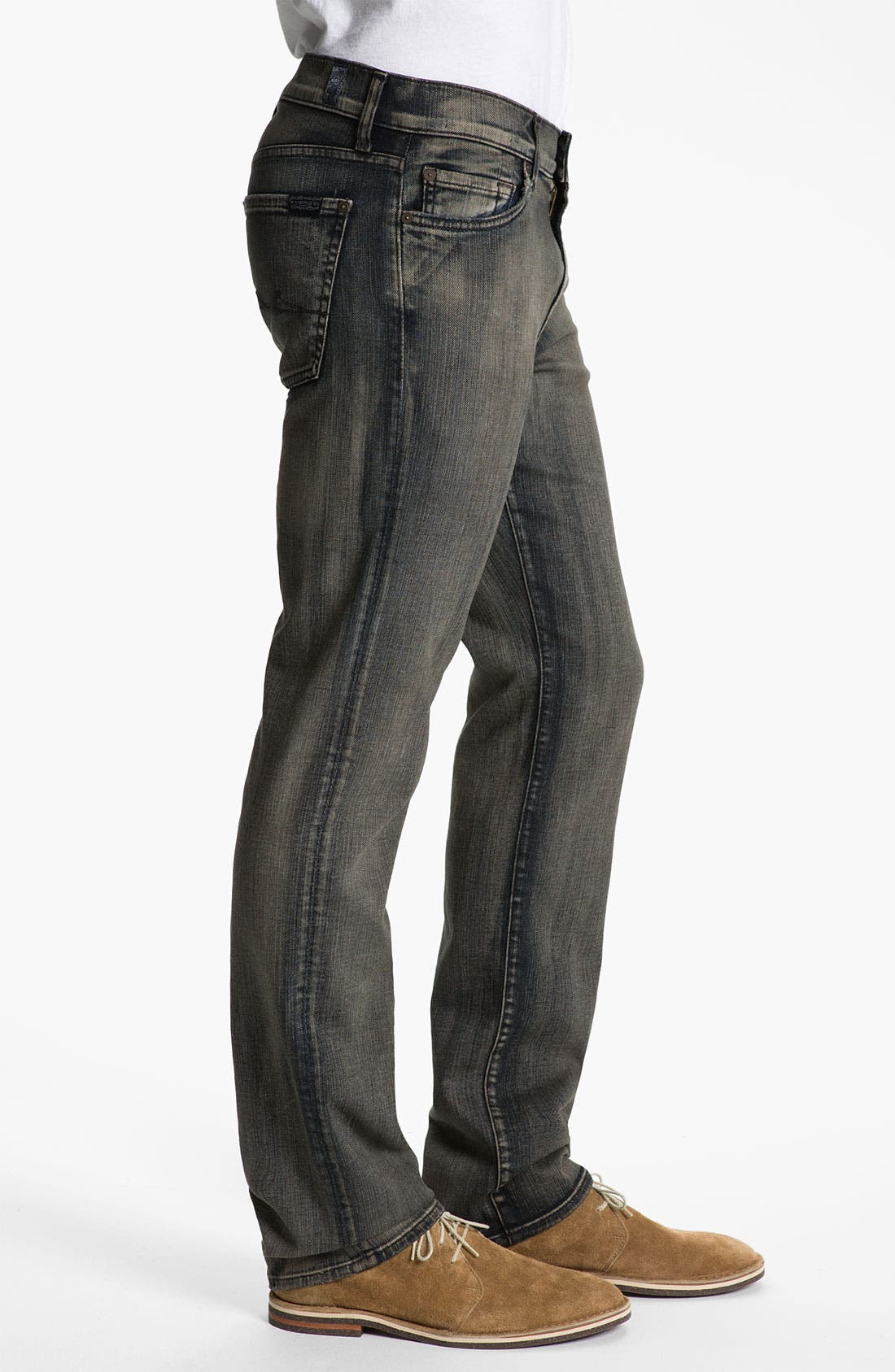 Alternate Image 3  - 7 For All Mankind® 'Slimmy' Slim Straight Leg Jeans (Shadow Cliff)