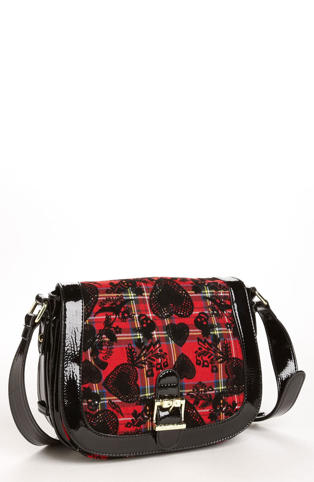 Alternate Image 1 Selected - Betsey Johnson 'School of Hearts' Crossbody Bag
