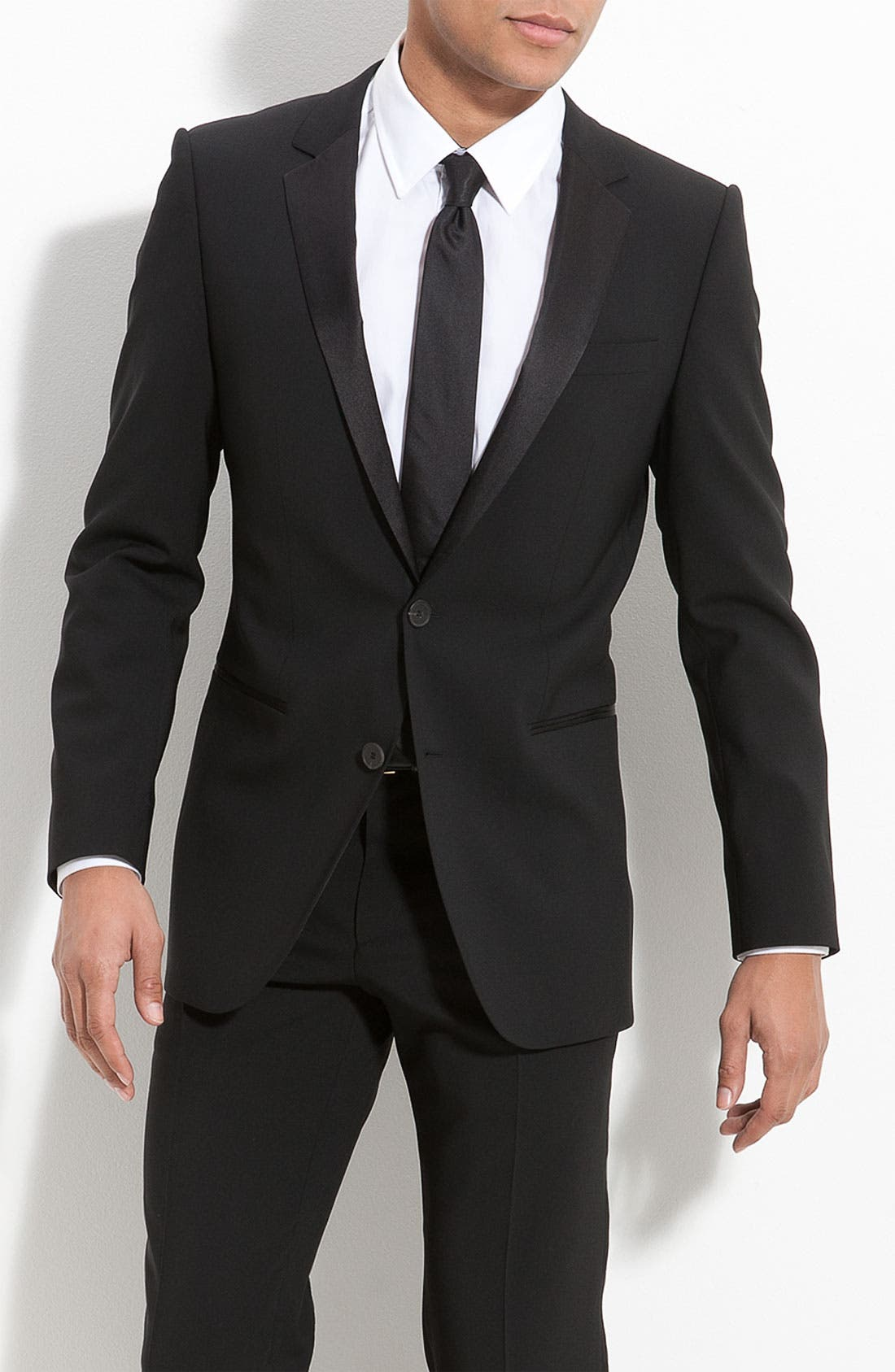 Alternate Image 4  - HUGO 'Aikin Hollo' Trim Fit Wool Tuxedo