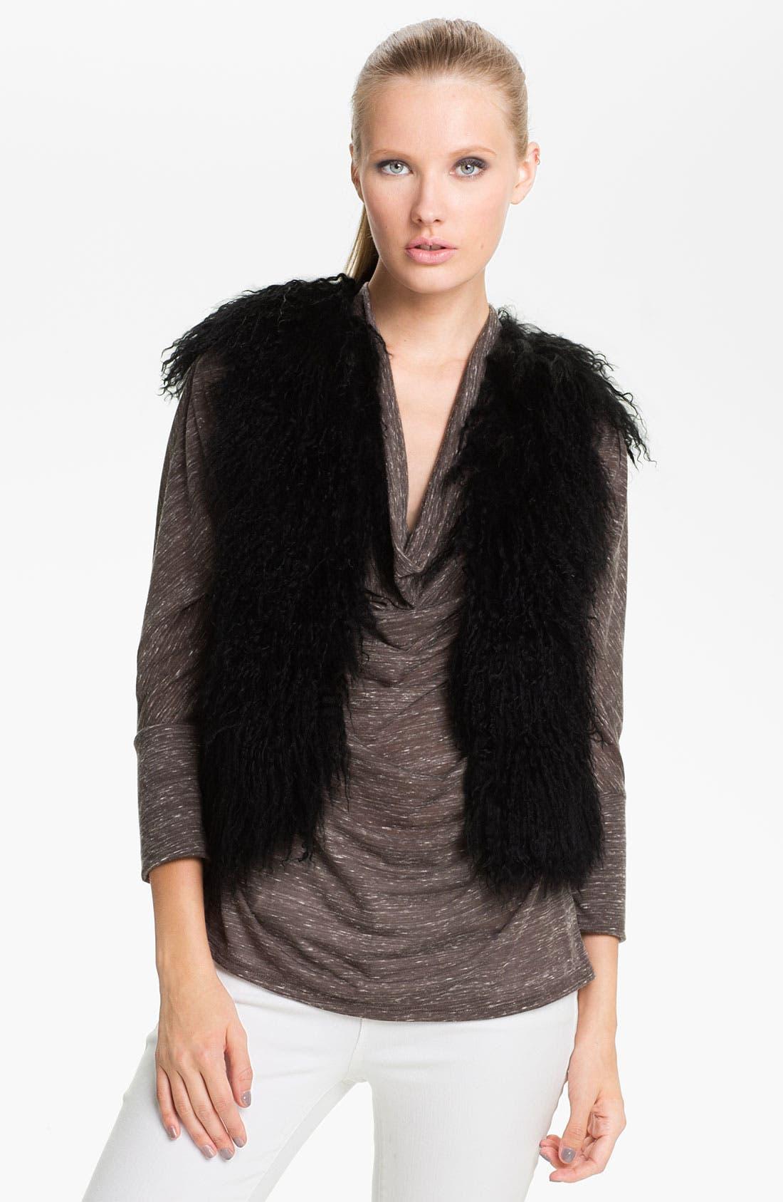 Main Image - Jessica Wilde Genuine Tibetan Lamb Fur & Knit Vest