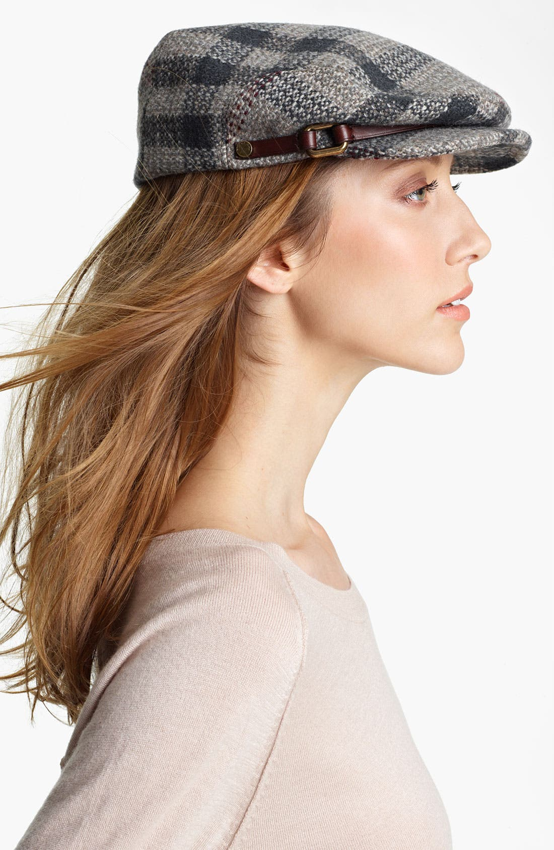 Main Image - Burberry Smoked Check Wool Flat Cap
