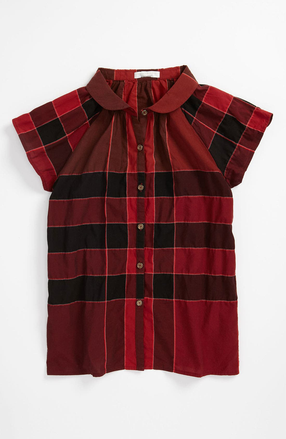 Alternate Image 1 Selected - Burberry Check Print Swing Top (Little Girls & Big Girls)