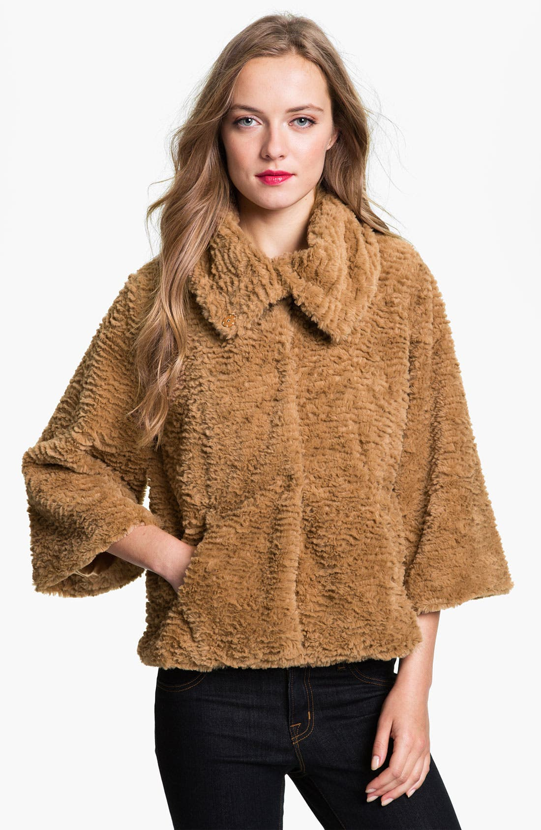 Main Image - Collection XIIX 'Francesca' Faux Fur Swing Jacket