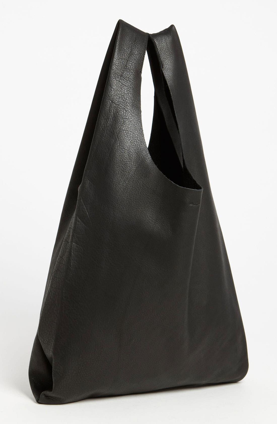 Alternate Image 1 Selected - Baggu® 'Medium' Leather Shoulder Bag