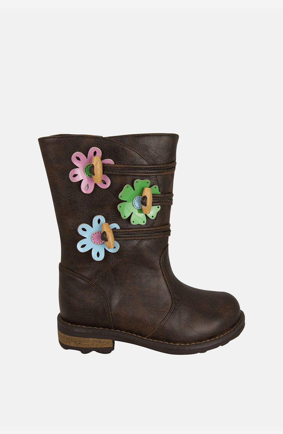 Alternate Image 1 Selected - Nina 'Deedee' Flower Boot (Walker & Toddler)