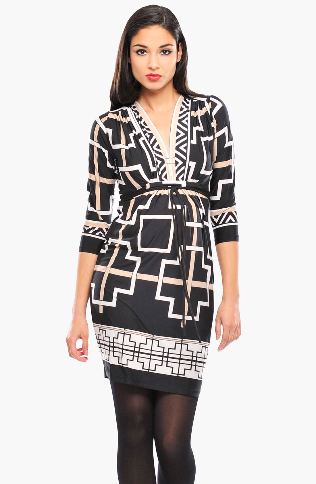 Alternate Image 1 Selected - Olian 'Monique' Print Maternity Wrap Dress