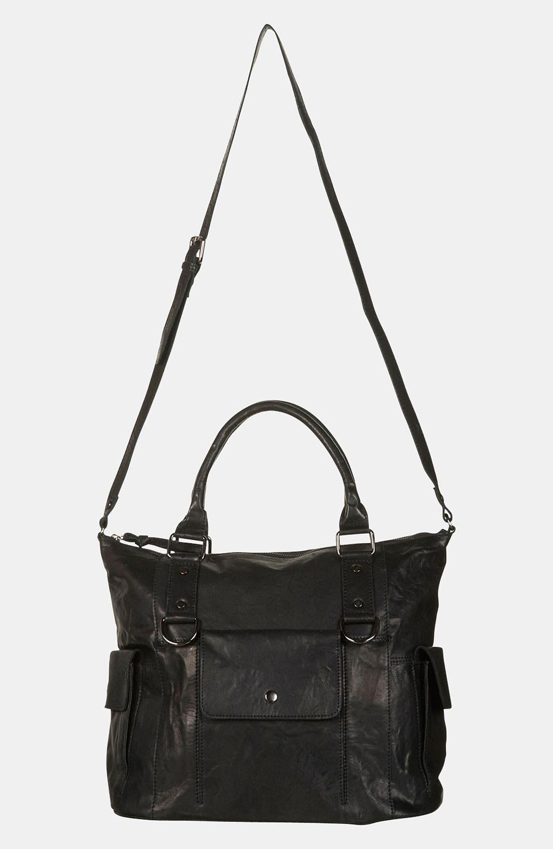 Alternate Image 2  - Topshop Leather Crossbody Bag