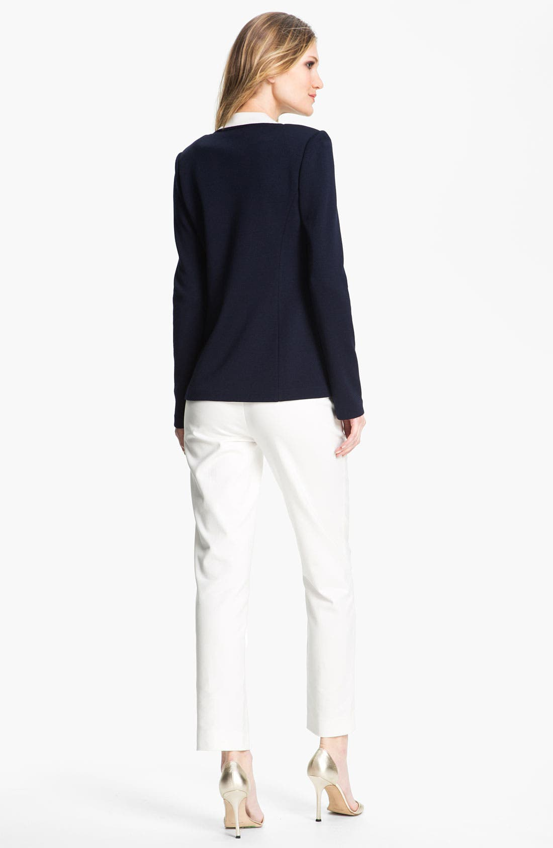 Alternate Image 4  - St. John Collection Double Weave Stretch Cotton Pants