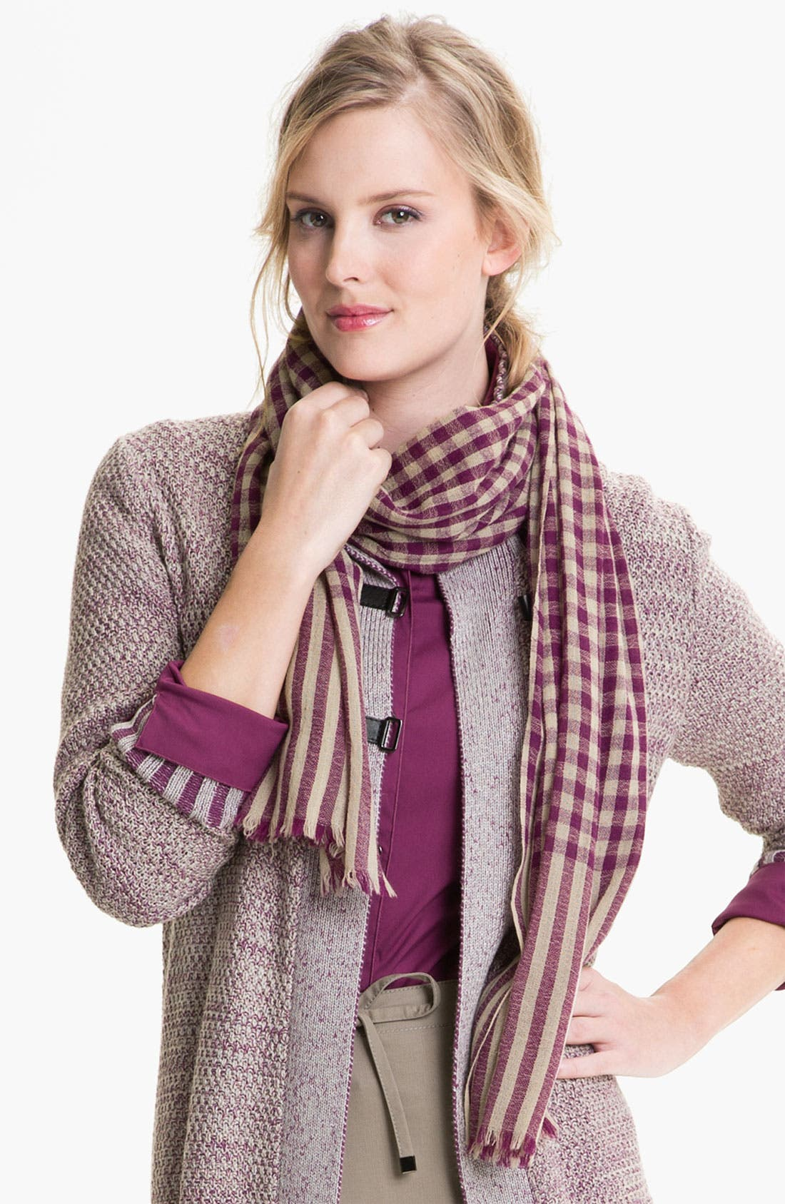 Alternate Image 1 Selected - Lafayette 148 New York Check Scarf