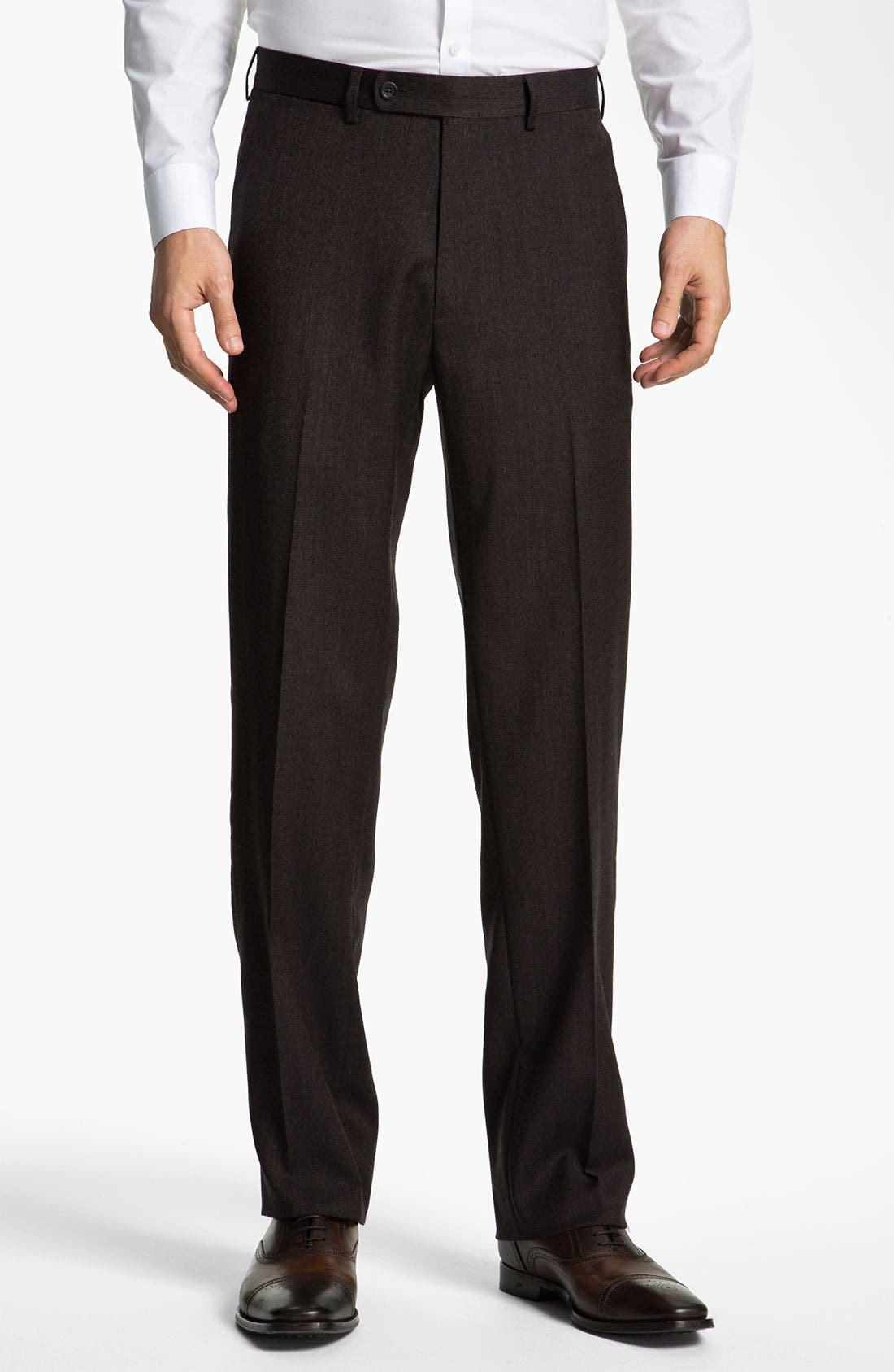 Main Image - Peter Millar 'Hi Low' Flat Front Wool Trousers