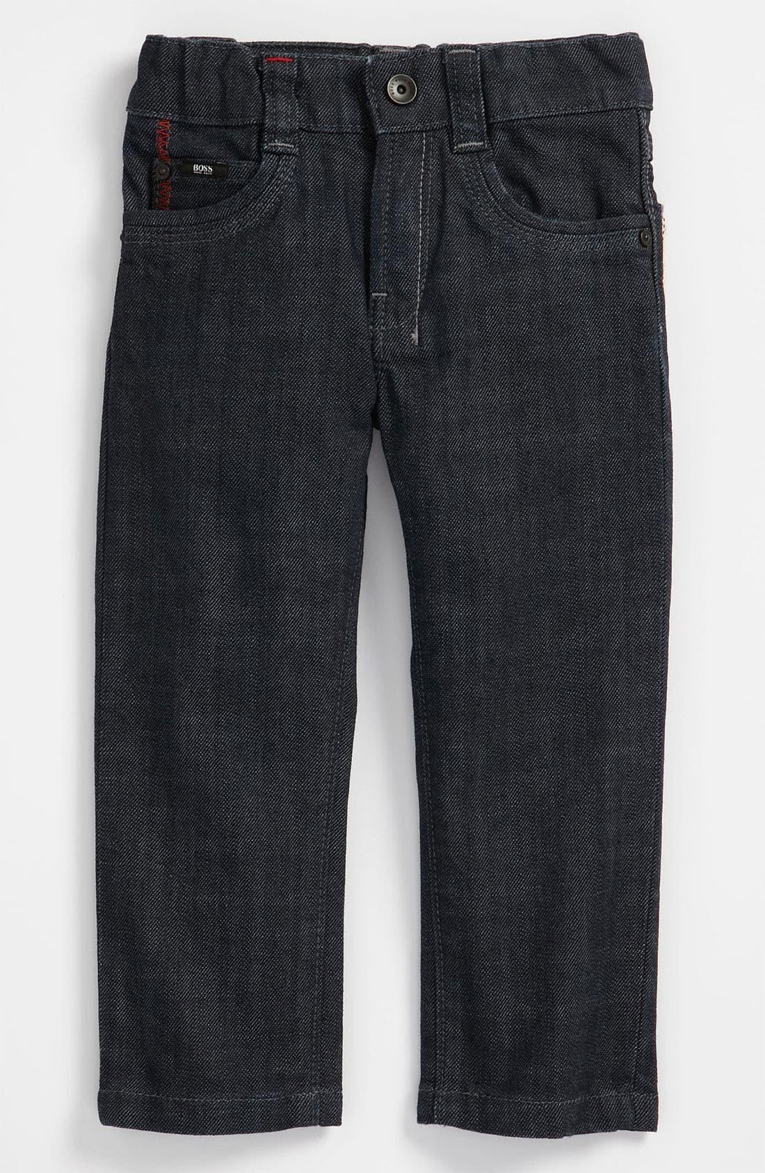 Alternate Image 2  - BOSS Kidswear Slim Leg Jeans (Toddler)