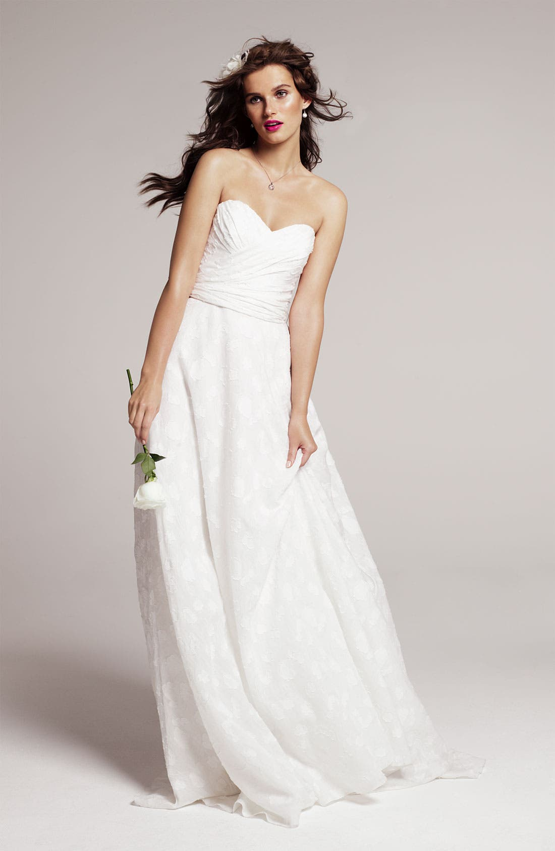 Alternate Image 4  - Theia Fil Coupe Jacquard Sweetheart Gown