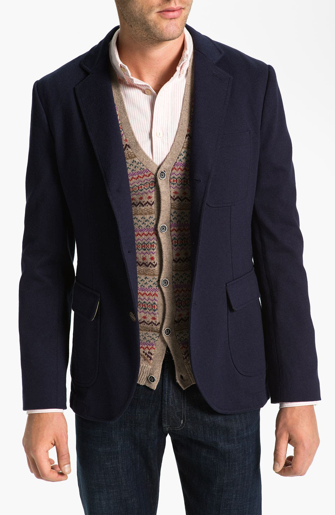 Alternate Image 1 Selected - Brooks Brothers Jersey Blazer