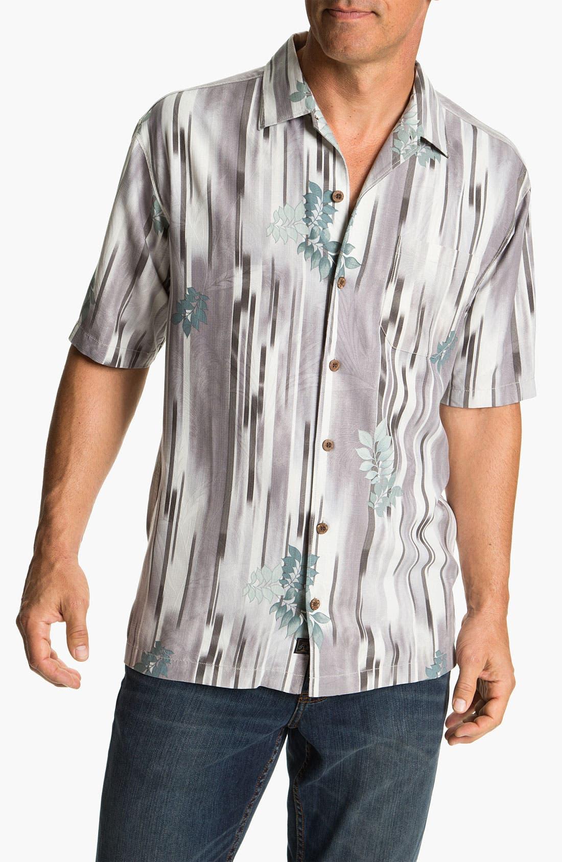 Main Image - Tommy Bahama 'Lemongrass Ikat' Silk Campshirt