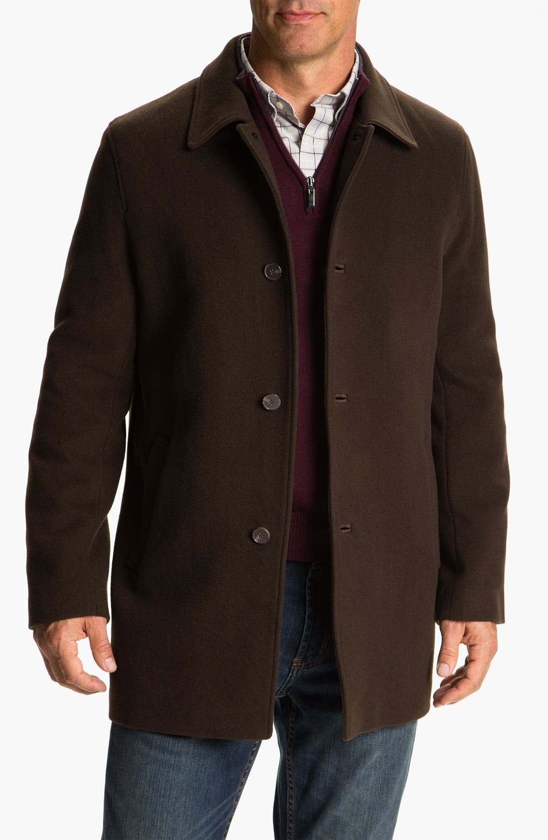 Alternate Image 1 Selected - Cole Haan Wool & Cashmere Blend Coat (Online Exclusive)