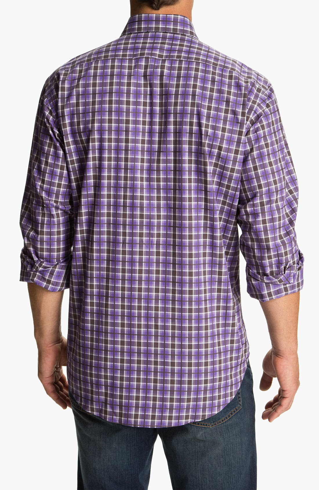 Alternate Image 2  - Thomas Dean Regular Fit Sport Shirt