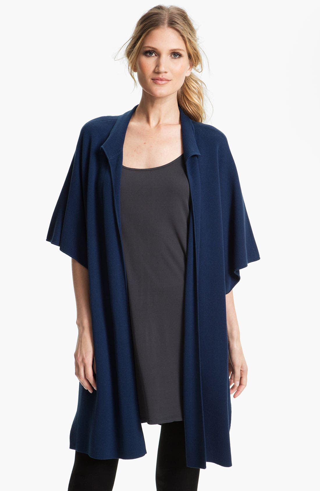 Alternate Image 1 Selected - Eileen Fisher Stand Collar Cape