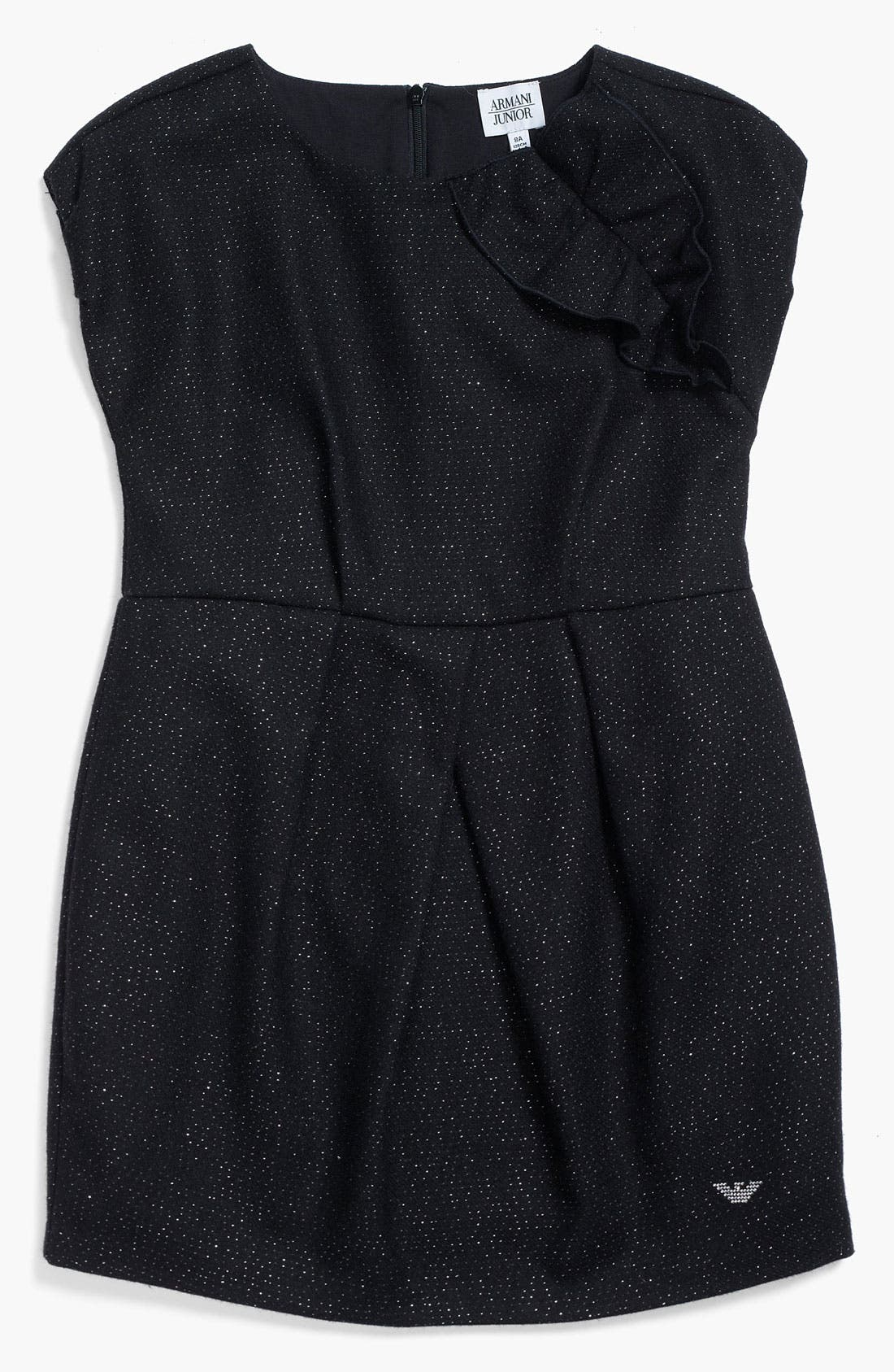 Main Image - Armani Junior Metallic Dress (Big Girls)