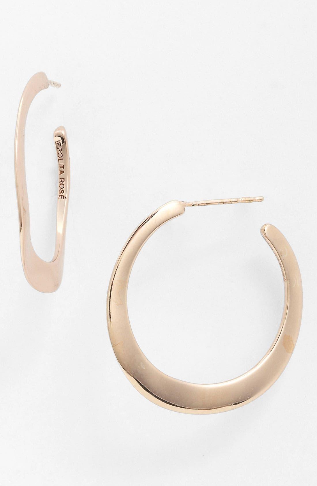 Alternate Image 1 Selected - Ippolita 'Lite Links - Number 2' Wavy Rosé Hoop Earrings