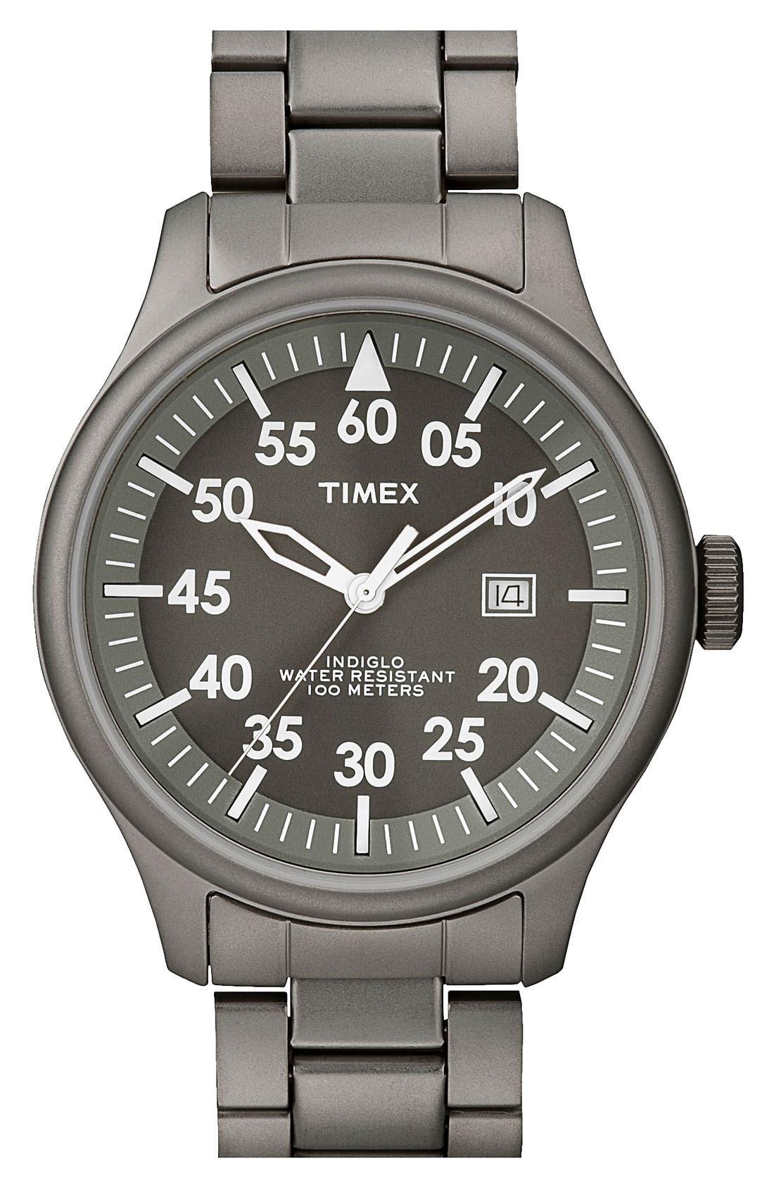Alternate Image 1 Selected - Timex® 'Retro Vintage' Round Bracelet Watch