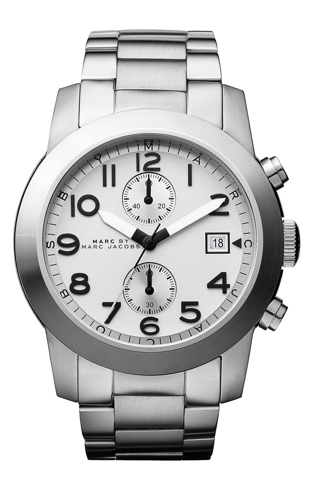 Main Image - MARC BY MARC JACOBS 'Larry' Chronograph Bracelet Watch