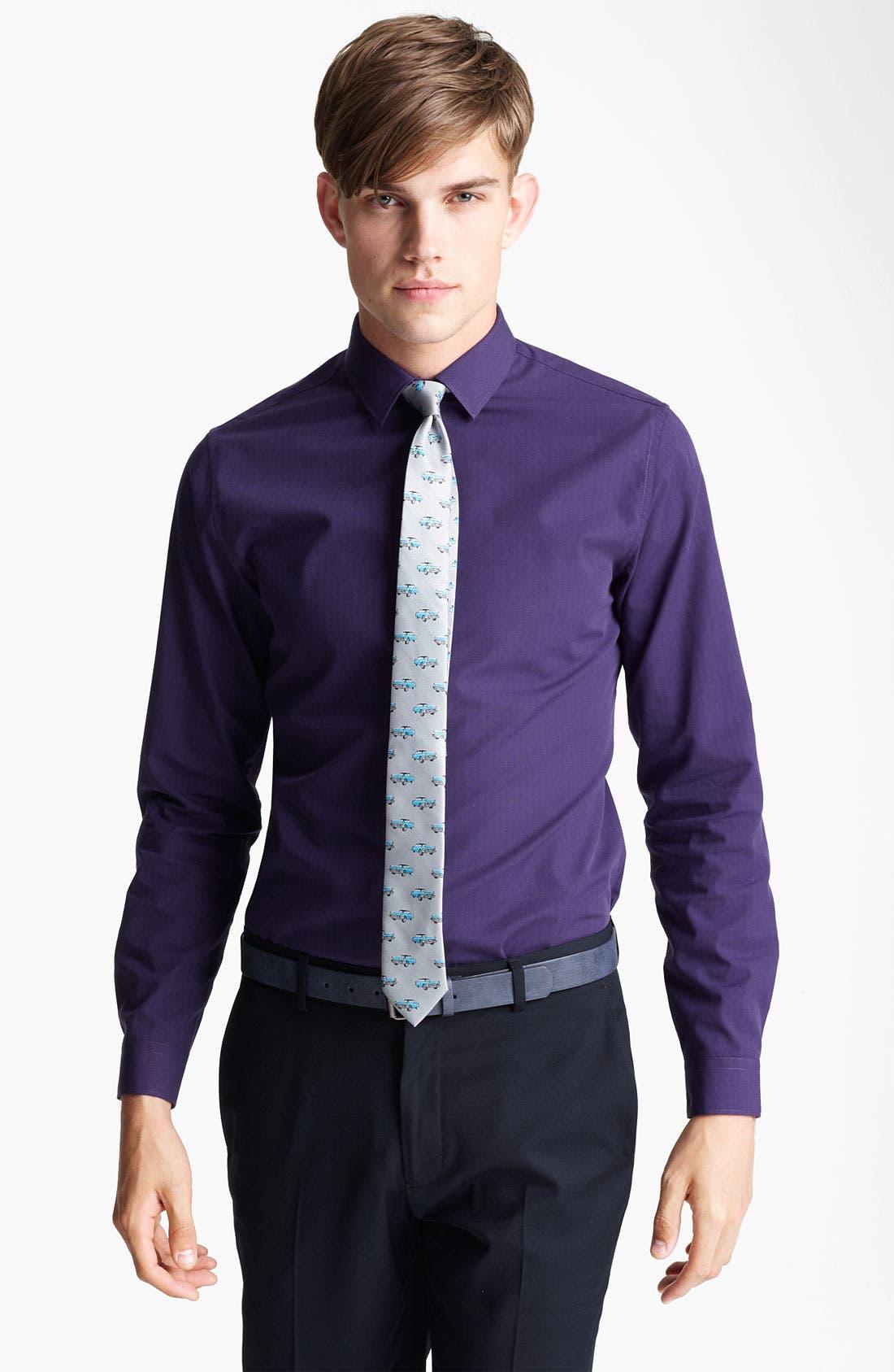 Main Image - Topman 'Smart' Extra Trim Dress Shirt