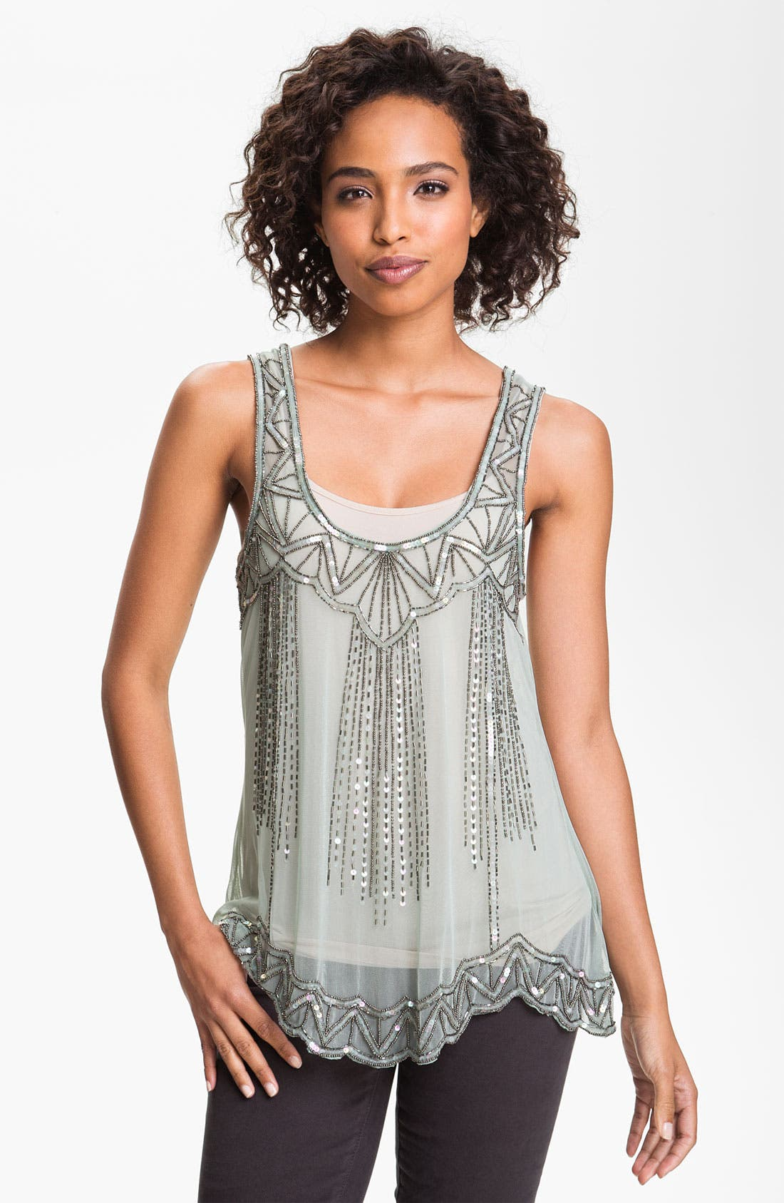 Alternate Image 1 Selected - Willow & Clay Embellished Tank
