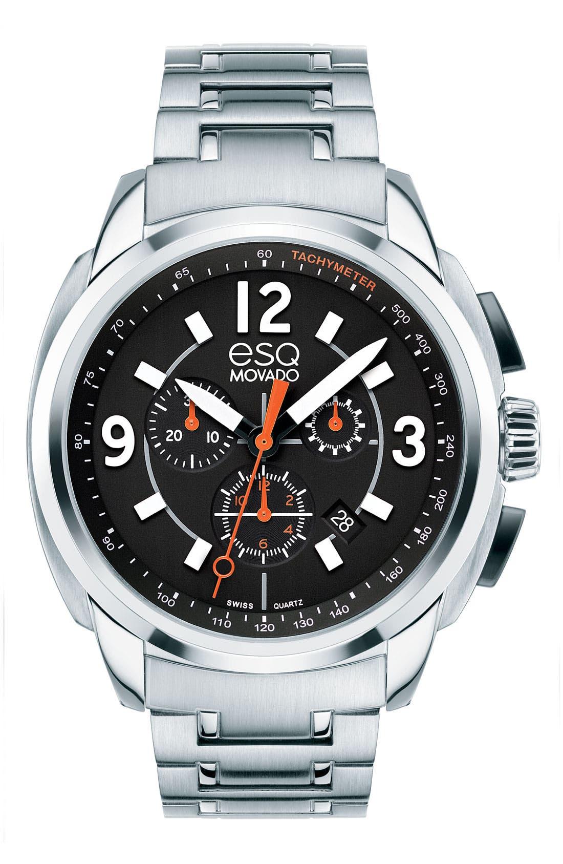 Alternate Image 1 Selected - ESQ Movado 'Excel' Chronograph Bracelet Watch
