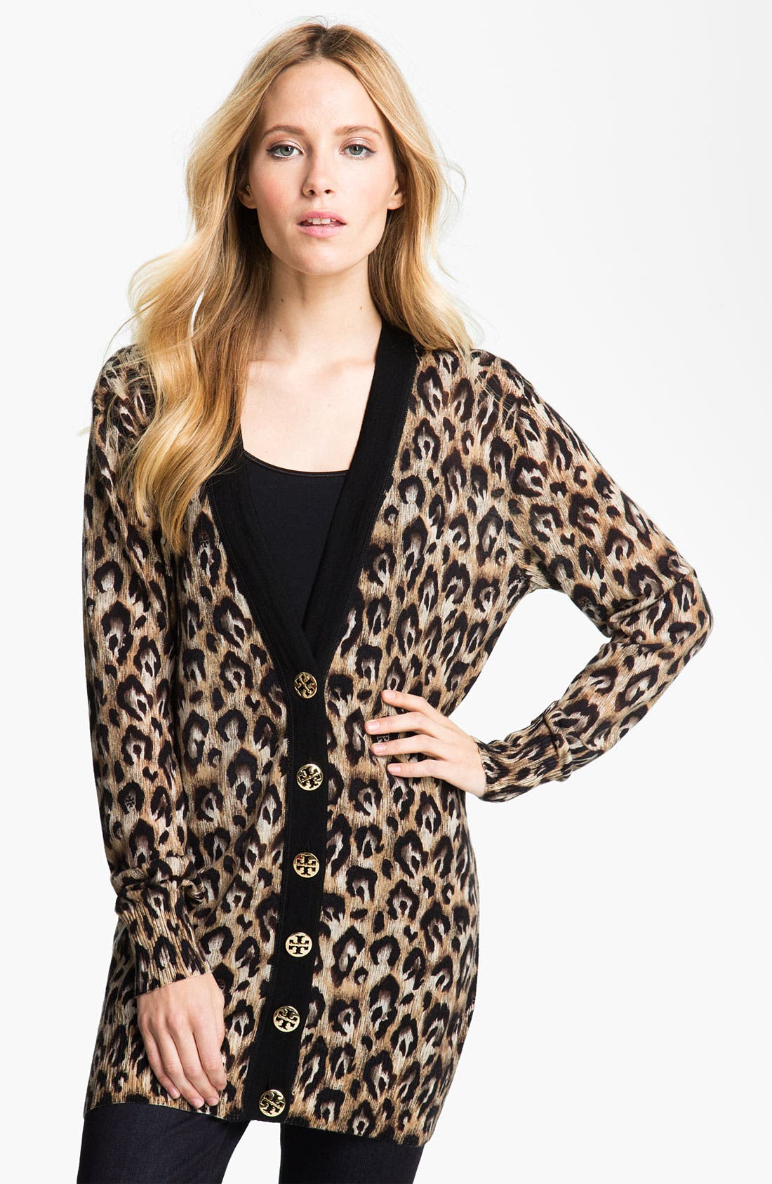 Alternate Image 1 Selected - Tory Burch 'Simone' Cardigan (Nordstrom Exclusive)
