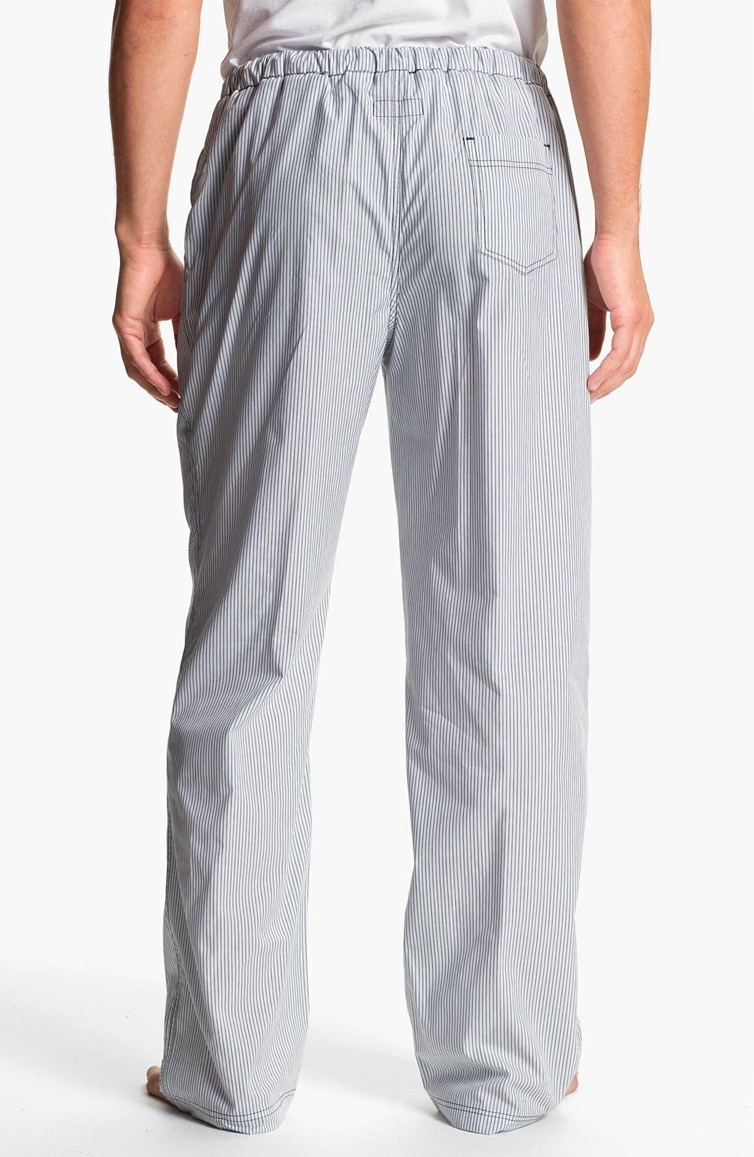 Alternate Image 2  - Daniel Buchler Woven Cotton Lounge Pants