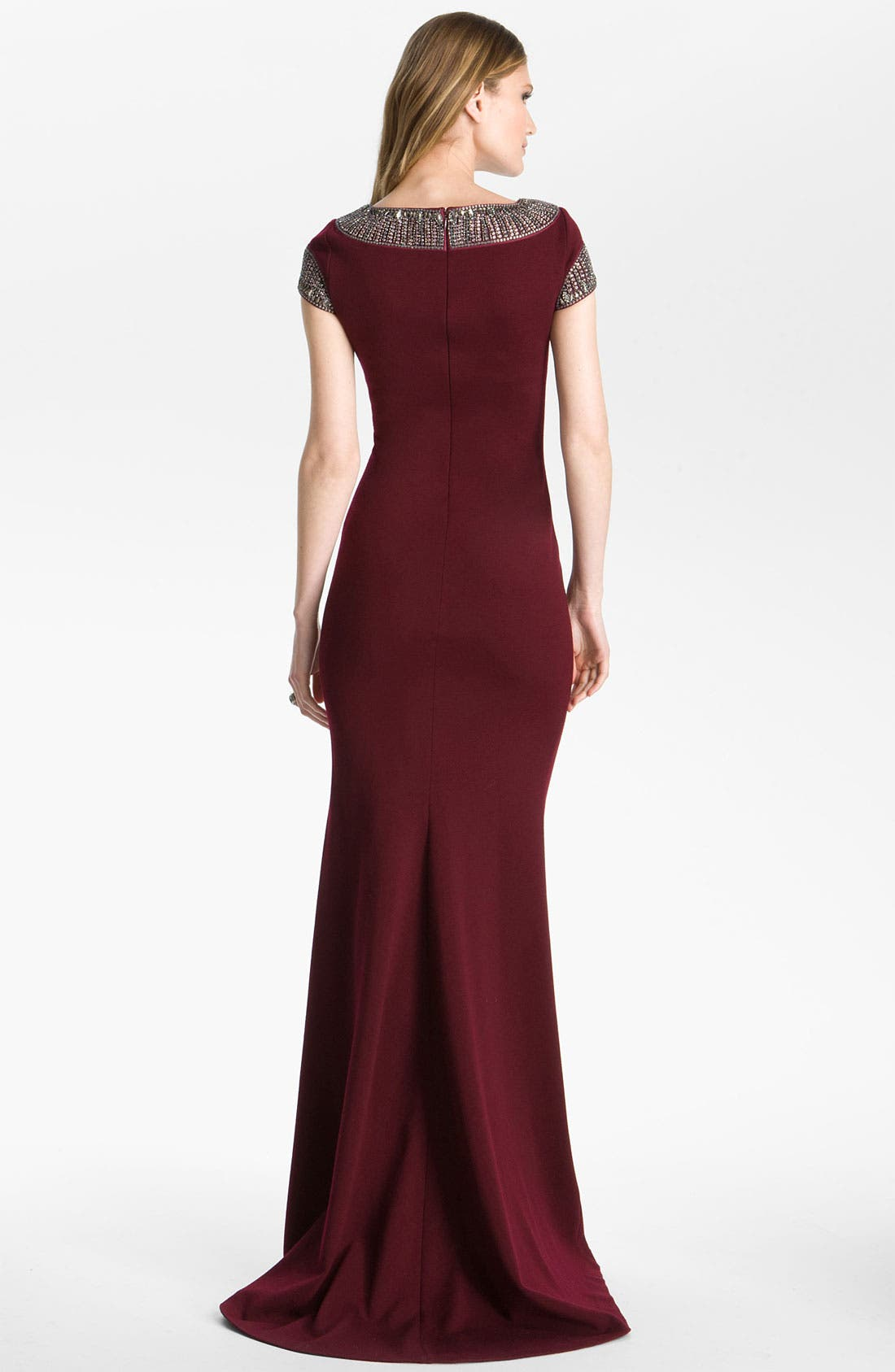 Alternate Image 2  - St. John Collection Beaded Milano Knit Gown