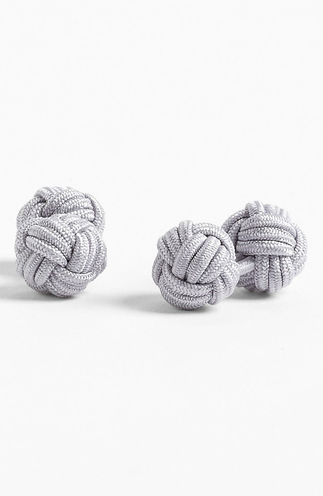 Alternate Image 1 Selected - David Donahue Silk Knot Cuff Links