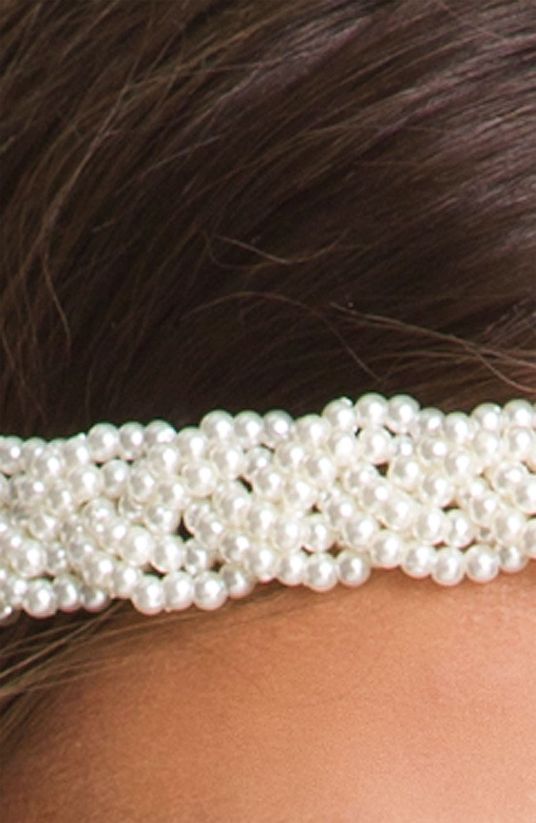 Alternate Image 2  - Carole Braided Pearlized Bead Headband