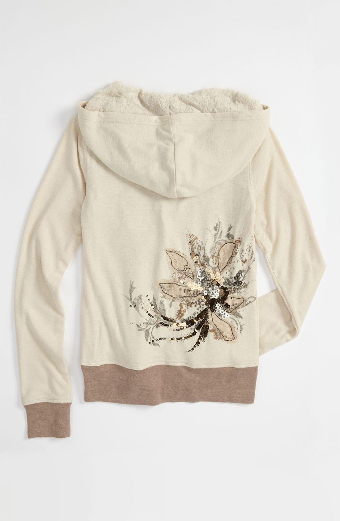 Alternate Image 2  - Miss Me Faux Fur Lined Jacket (Big Girls)