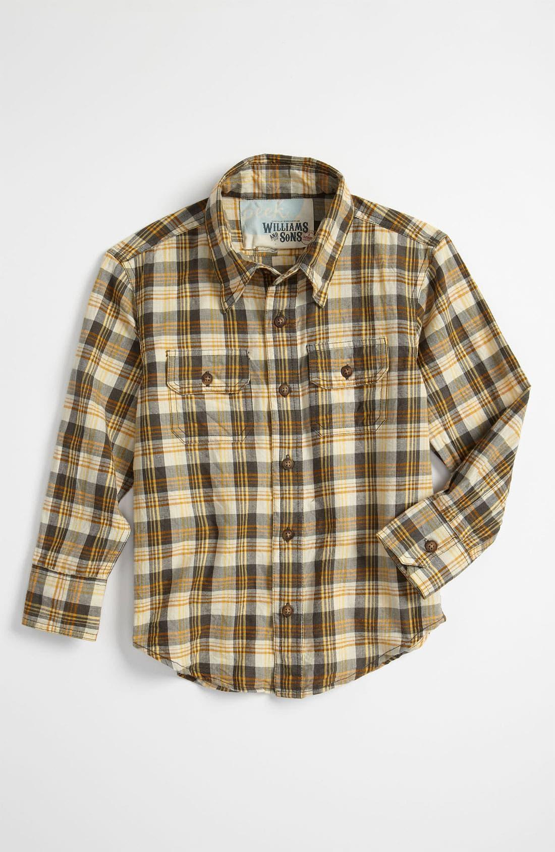 Alternate Image 1 Selected - Peek 'Brooks' Plaid Shirt (Toddler, Little Boys & Big Boys)