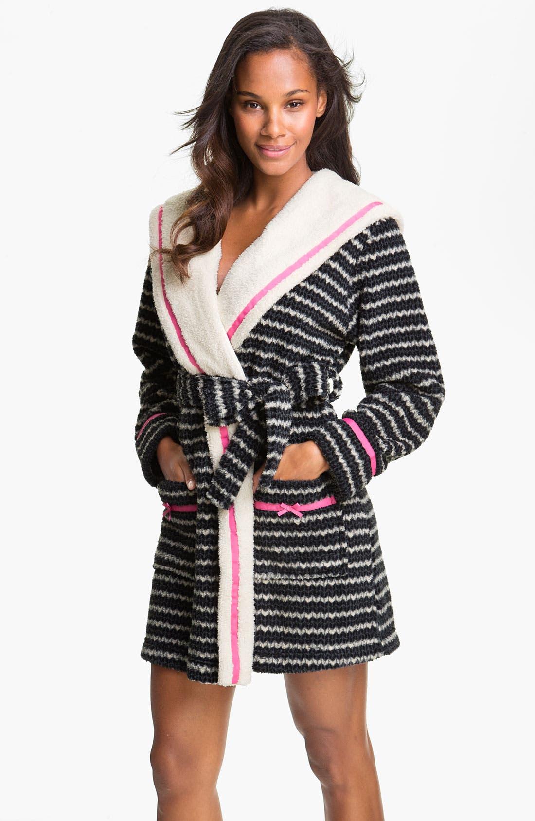 Alternate Image 1 Selected - Kensie Hooded Fleece Robe