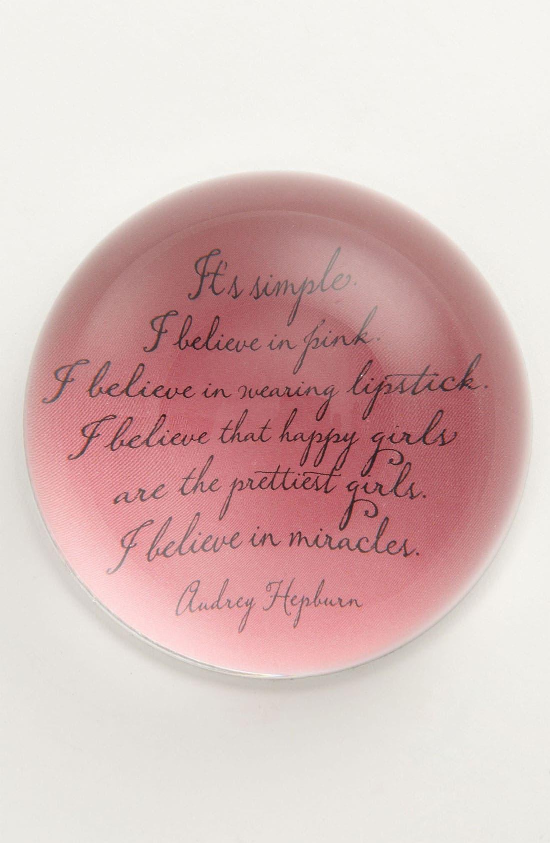 Alternate Image 1 Selected - Ben's Garden 'I Believe in Pink' Paperweight