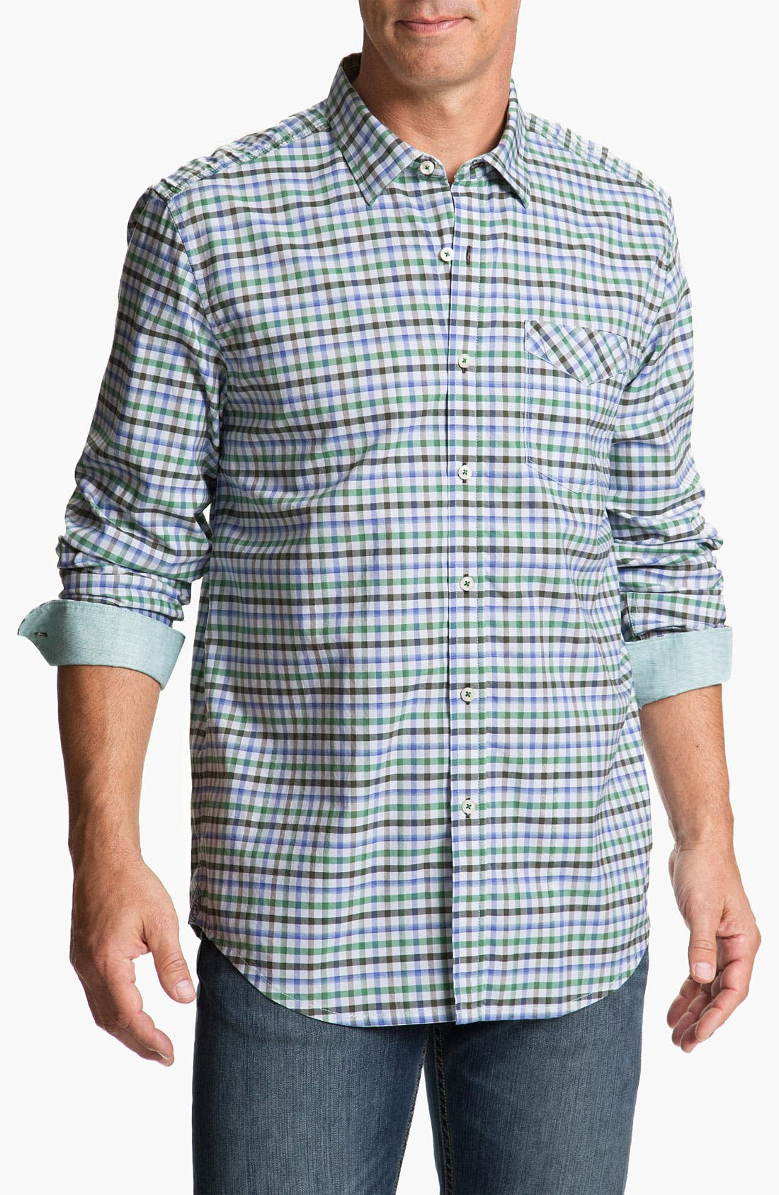 Alternate Image 1 Selected - Tommy Bahama Denim 'Dai-Nam-Ic Plaid' Sport Shirt
