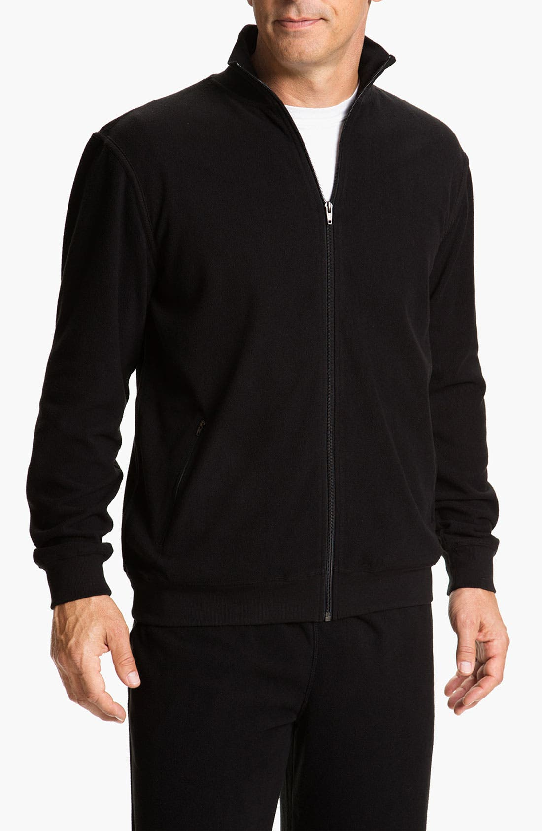 Alternate Image 1 Selected - Daniel Buchler Lightweight Fleece Track Jacket