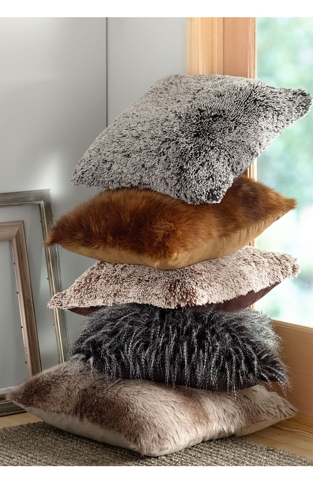 Alternate Image 2  - Brentwood Originals Tipped Faux Fur Pillow