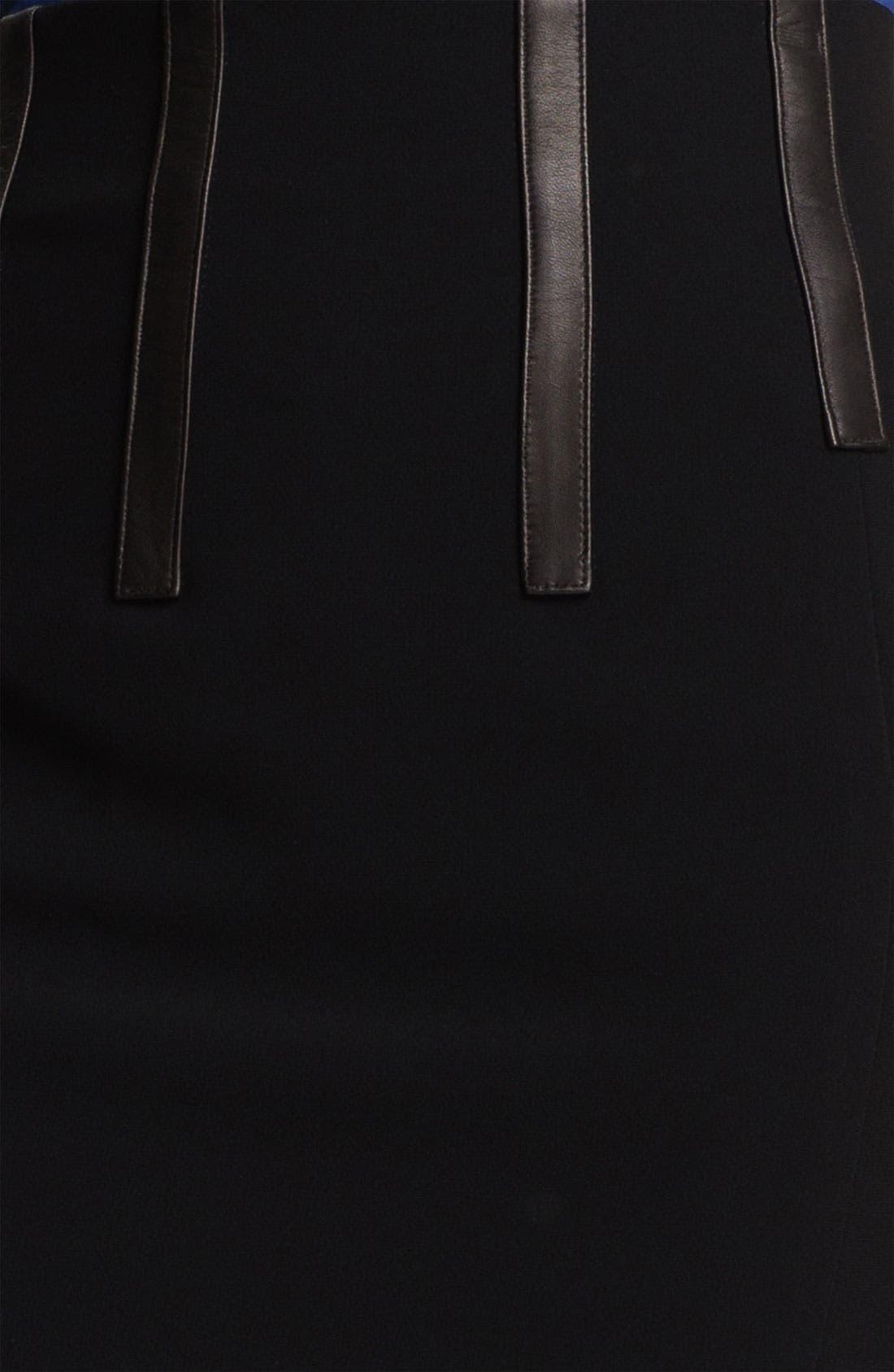 Alternate Image 3  - rag & bone 'Imogen' Leather Trim Skirt