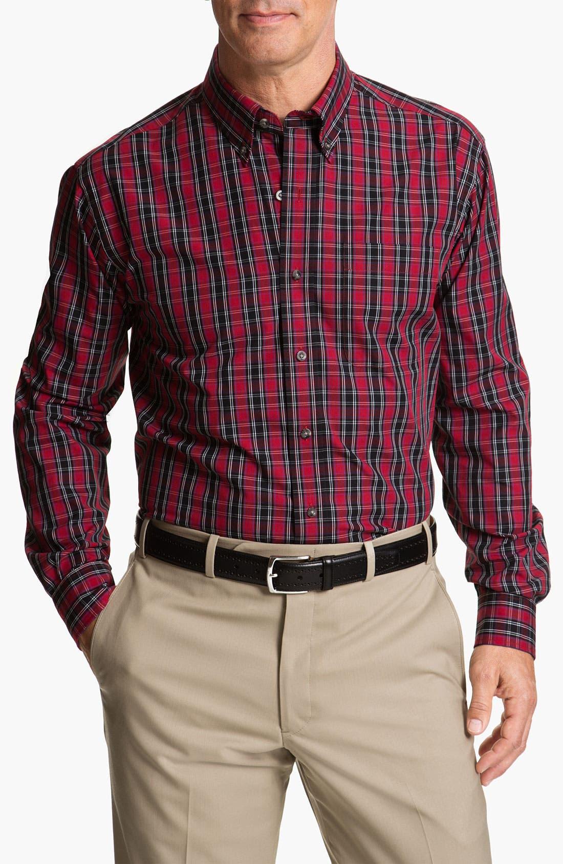 Alternate Image 1 Selected - Cutter & Buck 'Matterhorn' Plaid Sport Shirt