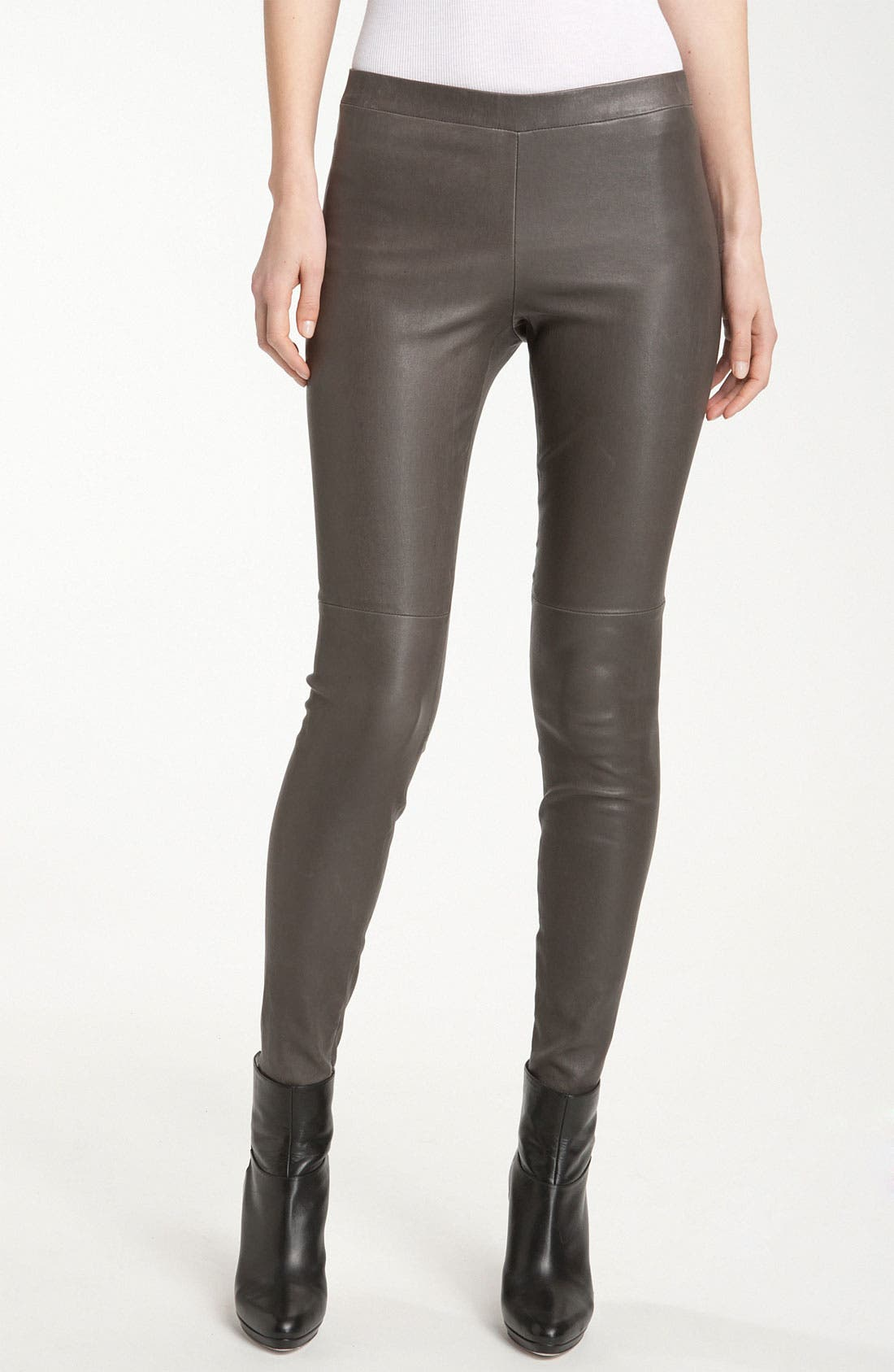 Alternate Image 1 Selected - Vince Zip Ankle Leather Leggings
