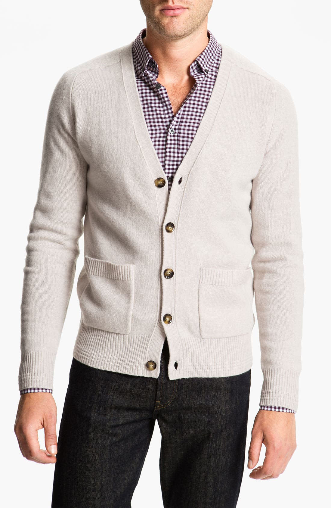 Alternate Image 1 Selected - Burberry Brit Wool Blend Cardigan